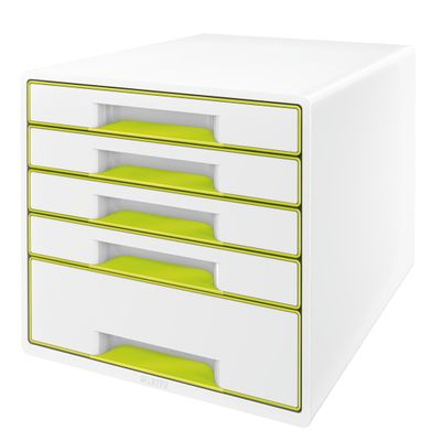 DRAWER UNIT WOW 5 DRAWERS WHITE/ GREEN