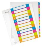 LEITZ Indices WOW Printable PP A4+ 1-12 ass