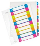 LEITZ Indices WOW Printable PP A4+ 1-10 ass