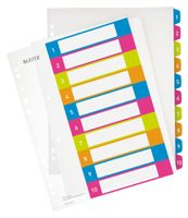 LEITZ Indices WOW Printable PP A4+ 1-10 ass (12430000*10)