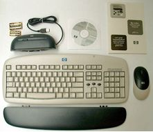 Keyboard, W. Cordless Mouse
