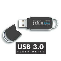 Flashdrive Courier Dual 16GB USB3.0 FIPS 197 AES 256-bit enryption