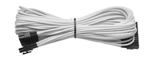 Individually Sleeved Cable White 860/ 760 AX  Platinum Series, 1x 20+4 pin ATX MB (610mm)