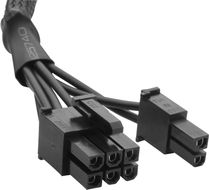 Type 3 Sleeved black PCI-E cable_ compatible with all Corsair type 3 pin out PSU