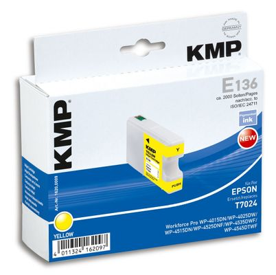 E136 ink cartridge yellow compatible with Epson T7024
