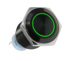 Vandalismusschalter 19mm - Blackline - green
