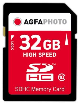 SDHC card         32GB Class 10 / High Speed / MLC