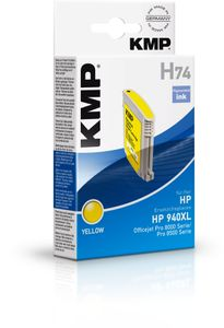 KMP H74 ink cartridge yellow compatible with HP C 4909 AE (1716,4009)