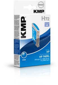 KMP H72 ink cartridge cyan compatible with HP C 4907 AE (1716,4003)