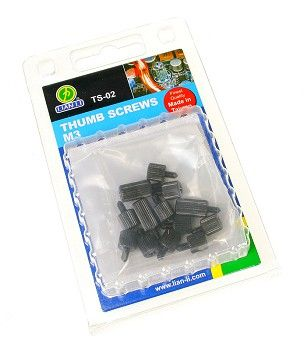 TS-02B Tool-less Mainboard Thumb-Screws - black
