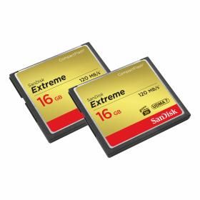 SANDISK SANDISK EXTREME CF 120 MB/S 16GB 2-pack (SDCFXS2-016G-X46)