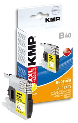 B40 ink cartridge yellow compatible w. Brother LC-1240 Y