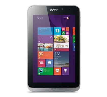 "Iconia W4-820 8"" HD Atom Z3740, 64GB SSD, Office Home and Student 2013, Windows 8.1"