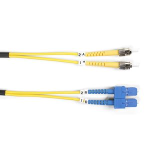 BLACK BOX FIBER PATCH CABLE 3M SM 9 MICRON ST TO S Factory Sealed (FOSM-003M-STSC)