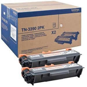 BROTHER TN-3390 TWIN TONER BLACK (2 STUECK) SUPL (TN3390TWIN)