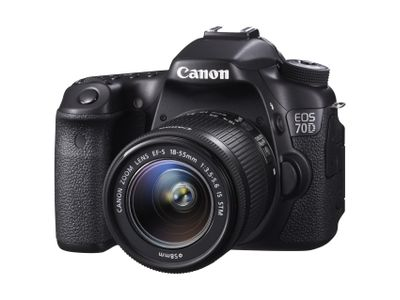CANON EOS 70D + EF-S 18-55 IS STM 3IN LCD BLACK 1080P HD VIDEO IN (8469B034)