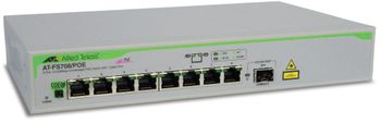 Allied Telesis 8 port 10/100 unmanaged POE switch with 1 SFP uplink (AT-FS708/POE-50)
