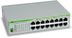 ALLIED TELESYN 16 port 10/ 100/ 1000TX unmanged switch, Silent Operation (Fanless)