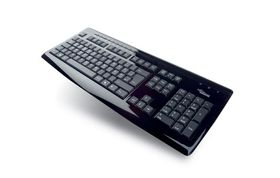 KB SLIM MF PIANO BLACK GB brilliant black USB keyboard 2,0m USB cable retail box