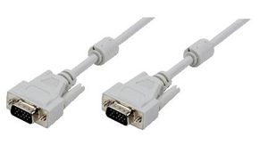 VGA Cable 2x ST grey 2x Ferrit Core 5M