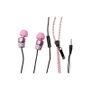 KONKIS Zipper Stereo headset For Apple iPhone 5 PINK .