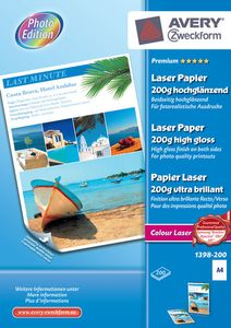 AVERY 1398-200 Photo paper A4 glossy laser 200g (200) (1398-200)