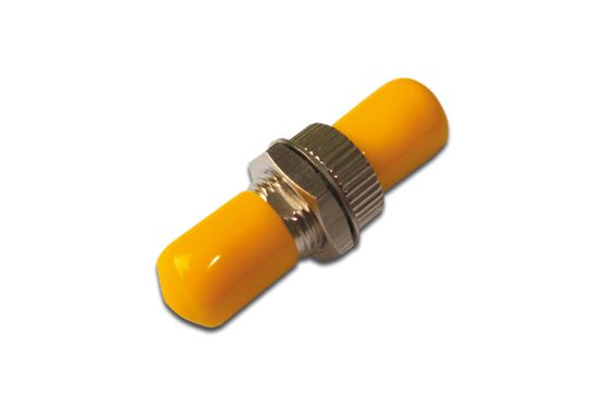 ST / ST SIMPLEX COUPLER WITH YELLOW CAPS SINGLEMODE CABL