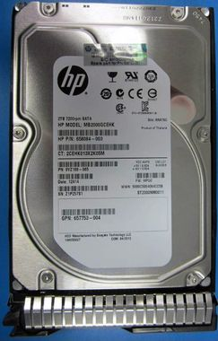 HP 2TB 6G SATA 7.2k 3.5in SC MDL Retail