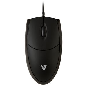 VIDEO SEVEN V7 MOUSE OPTICAL ALL BLK USB 3 BUTTON WHEEL 1000DPI ACCS (MV3000010-BLK-5E)