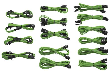 CORSAIR Individually Sleeved DC Cables Kit, Type 3, Green (CP-8920047)