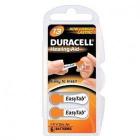 DURACELL 1.4v Hearing Aid Cell (6 Pack) (DA13)