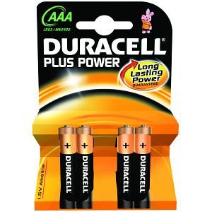 DURACELL AAA Plus Power (4 pack) (MN2400B4)