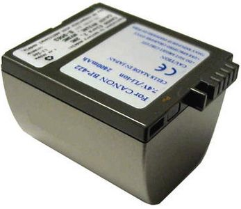 2-POWER Camcorder Battery 7.4v 650mAh Tilsvarende BP-406 (VBI9561A)