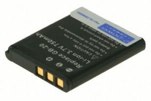 Digital Camera Battery 3.7v 750mAh Tilsvarende GB-20