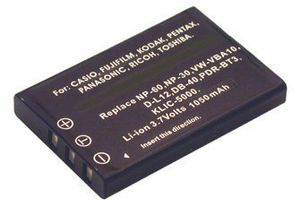 Digital Camera Battery 3.7v 1100mAh Tilsvarende LI-20B