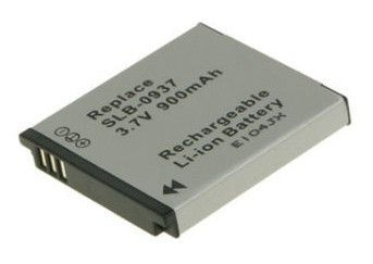 2-POWER Digital Camera Battery 3.7v 900mAh Tilsvarende SLB-0937 (DBI9920A)