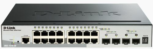 D-LINK 20P SmartMngd.Gigabit StackSwitch (DGS-1510-20)