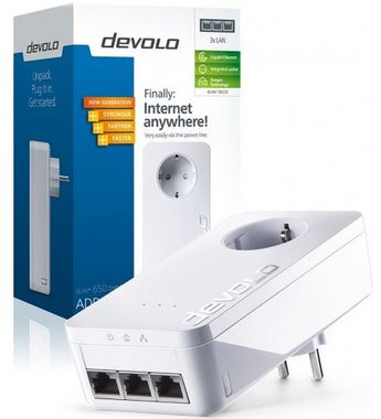 dLAN 650 AVtriple+ Adapter 650mbit,  3x Gigabit