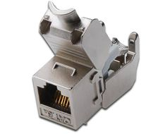 Keystone Jack Cat6a, RJ45, geschirmt,  Metall