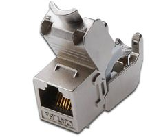 DIGITUS Keystone Jack Cat6a, RJ45, geschirmt,  Metall (DN-93615)