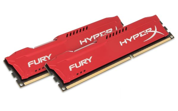 HyperX/ 16GB 1600MHz DDR3 CL10 DIMM (Kit of 2) HyperX Fury Red Series