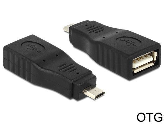 Adapter USB Micro B male > USB 2.0 female OTG full covered