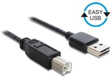 DELOCK USB Kabel A -> B St/St 1.00m sw Easy USB