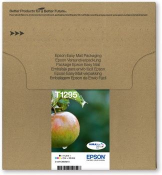 MULTIPACK 4-COL T1295 ULTRA INK APPLE-SIZE L:BLCYANMAGENTAYEL    IN SUPL