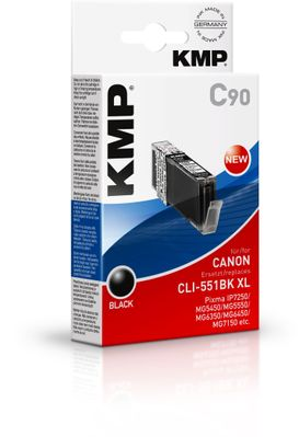 C90 ink cartridge black comp. with Canon CLI-551 BK XL