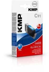 KMP C91 ink cartridge cyan comp. with Canon CLI-551 C XL (1519,0003)