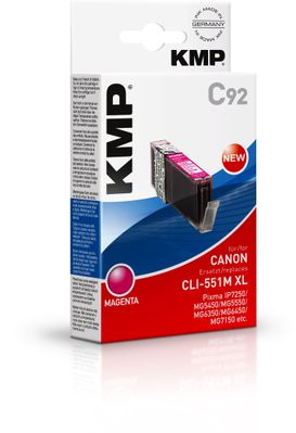 C92 ink cartridge magenta comp. with Canon CLI-551 M XL
