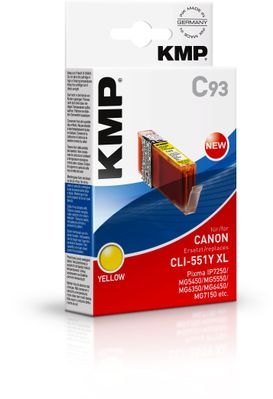 C93 ink cartridge yellow comp. with Canon CLI-551 Y XL