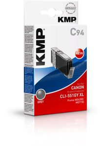 KMP C94 ink cartridge grey comp. with Canon CLI-551 GY XL (1519,0041)