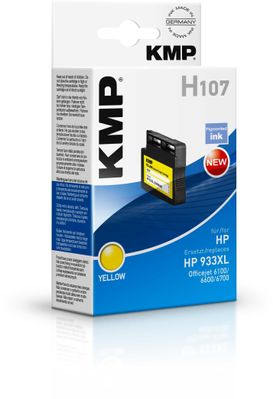 H107 ink cartridge yellow comp. with HP CN 056 AE 933 XL